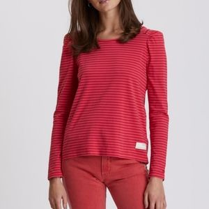 Odd Molly Miss Stripes Top Hot Pink Shirt